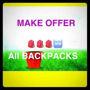 BACK TO SCHOOL BACKPACKS ON SALE ACCEPTING OFFERS